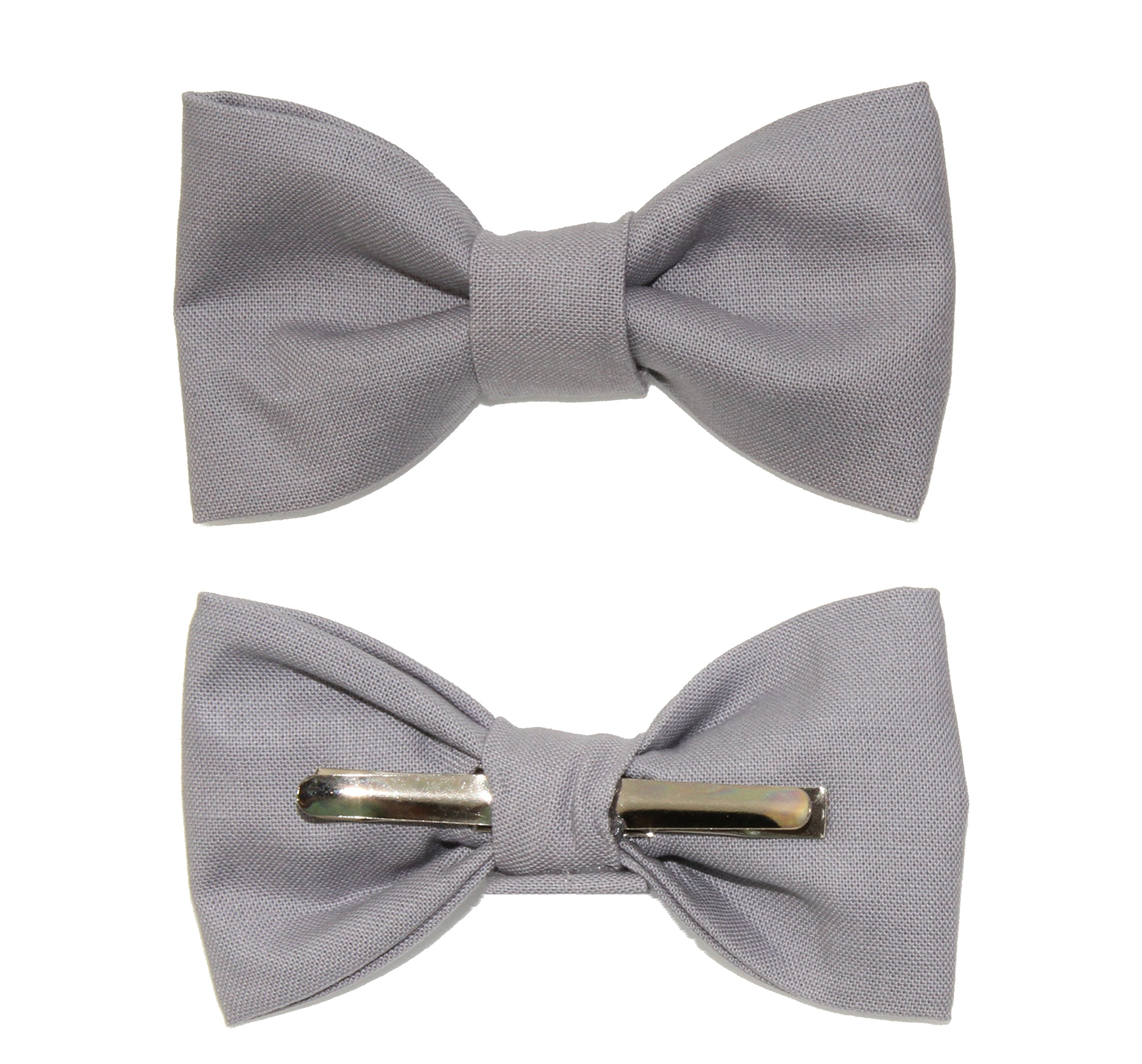 Toddler Boy 3T 4T Gray Clip On Cotton Bow Tie Bowtie by amy2004marie