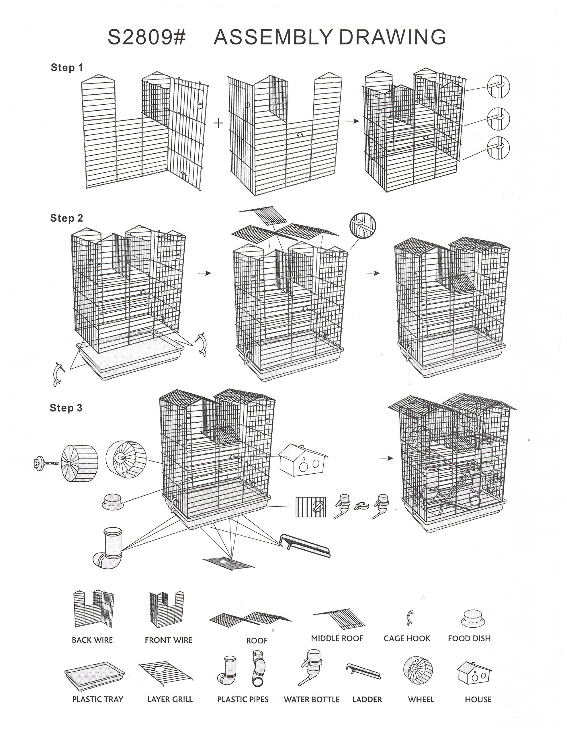 Large 5 Floor Twin Towner Habitat Syrian Hamster Rodent Gerbils Mouse Mice Rat Cage (Blue) by Mcage (Image #2)