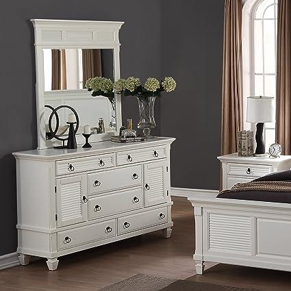Amazon.com: Roundhill Furniture Regitina 016 Bedroom Dresser with ...