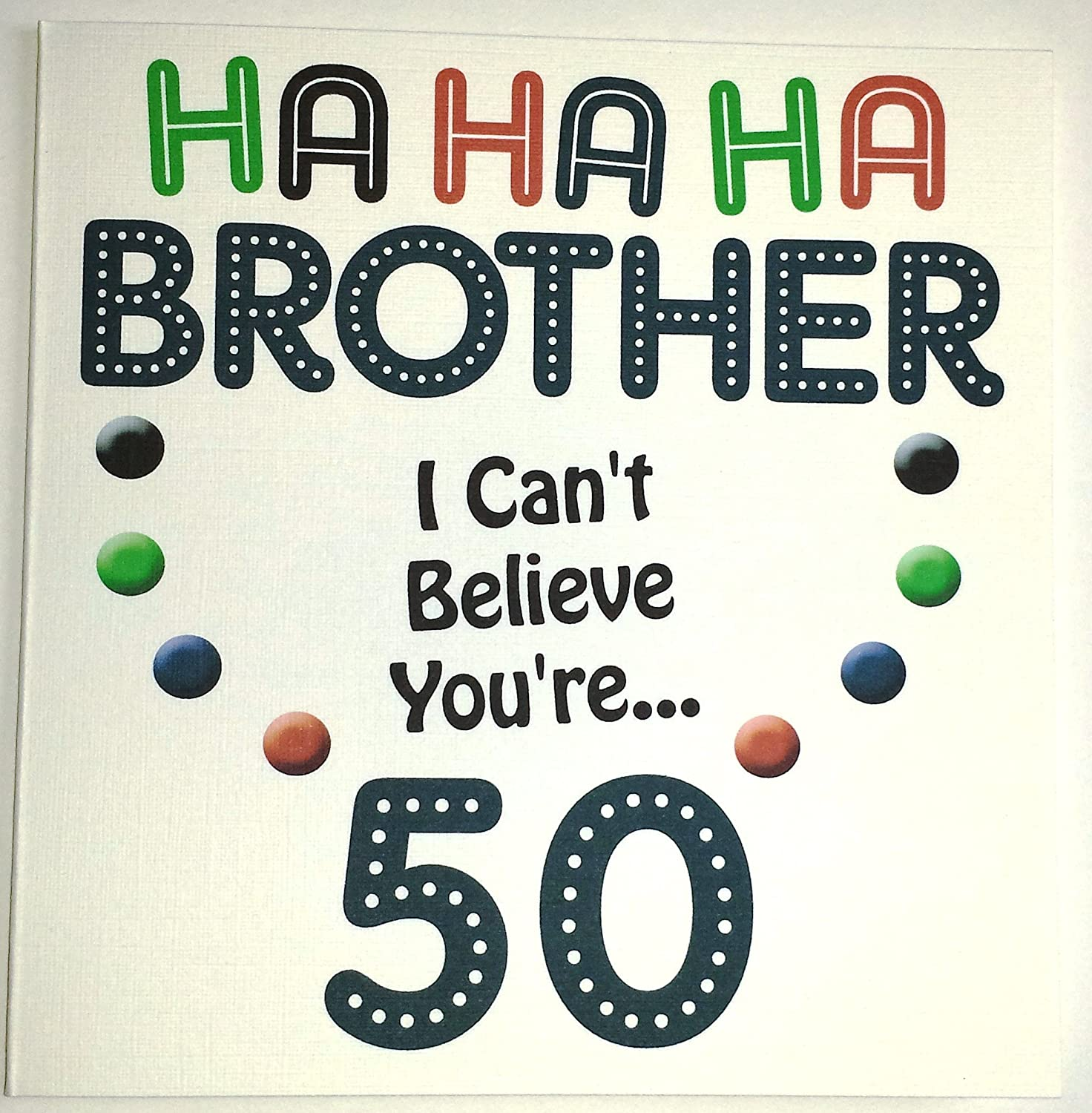 Happy Birthday Card Brother Funny 50th Birthday Handmade Card