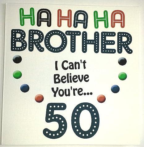 Tarjeta de felicitación de cumpleaños - Brother - 50th ...