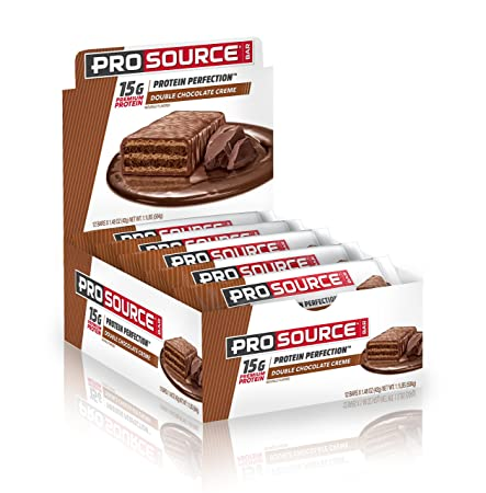 ProSource Protein Bar 15g of Premium Protein Hydrolyzed Whey Delicious Gourmet Taste NO Soy NO Sugar Alcohols Double Chocolate Creme Pack of 12