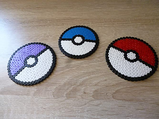 Sprite Pokeball X3 Pokemon Hama Beads Pixel Art Amazon De