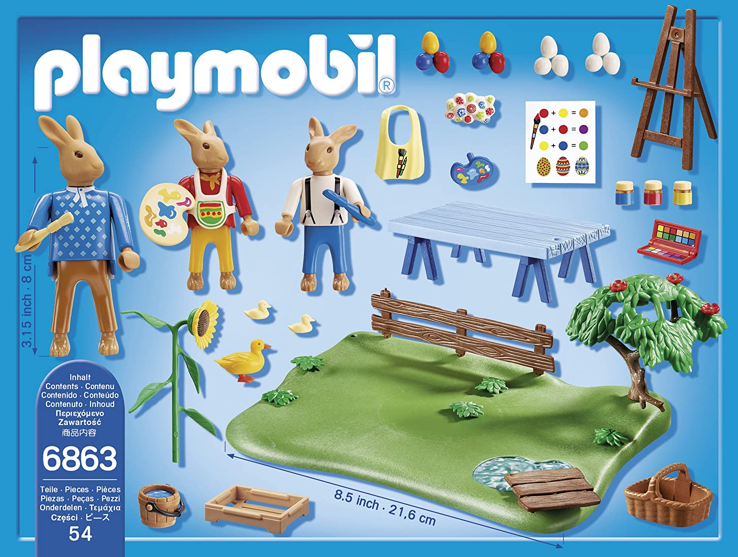 Playmobil Pascua Easter Bunny Workshop Playset 6863: Amazon.es: Juguetes y juegos