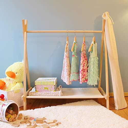 Well known Amazon.com: Kids Small Clothes Rack with Canvas Storage Shelf  SE14