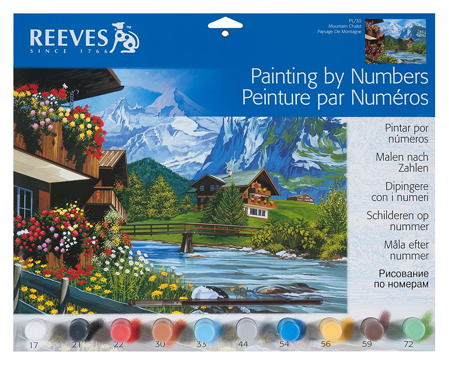 Amazon.com: Reeves Large Acrylic Painting By Numbers - Al Fresco