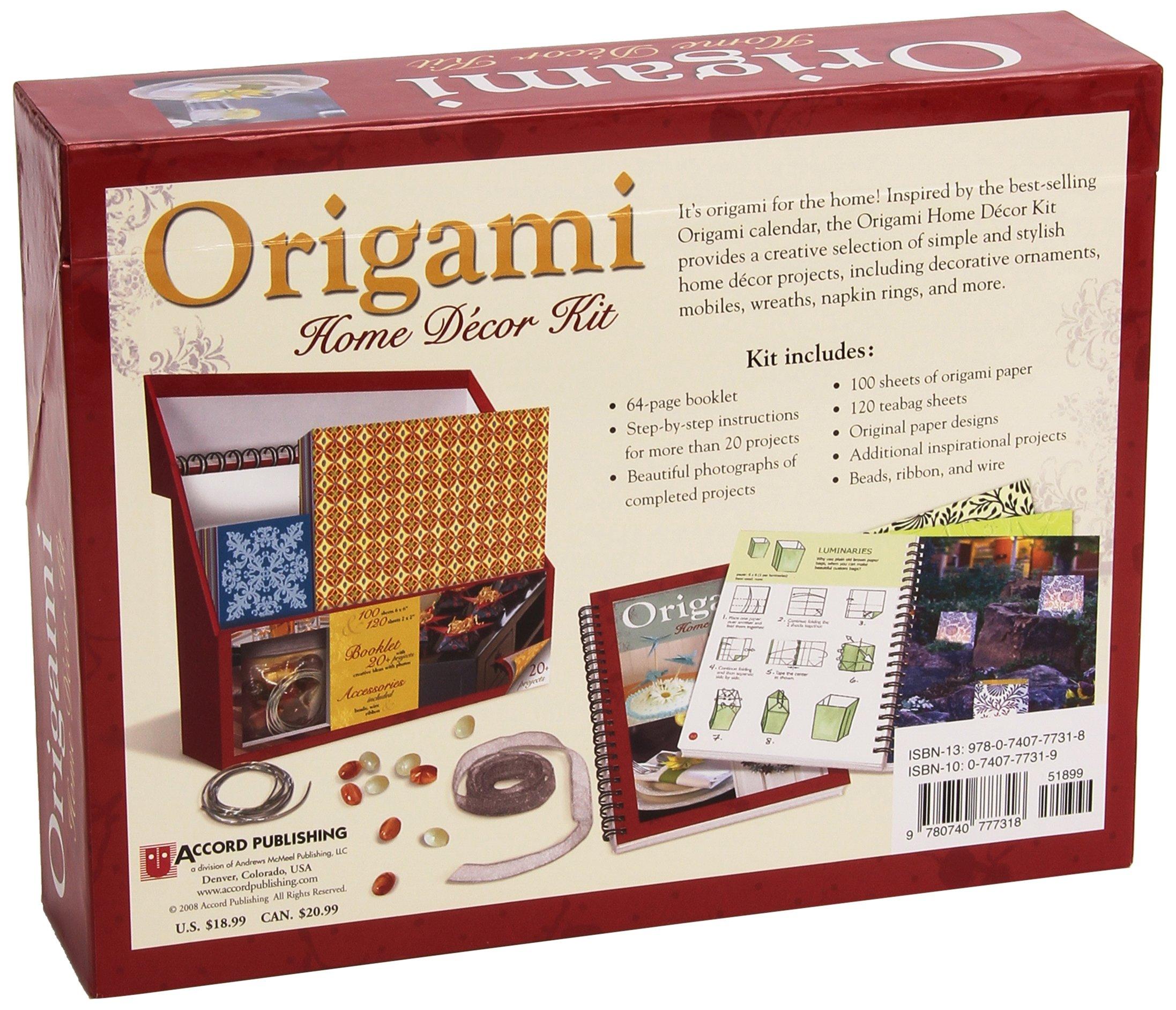 Origami Home Decor Kit Jeff Cole Peggy Kelly 9780740777318 Amazon Books