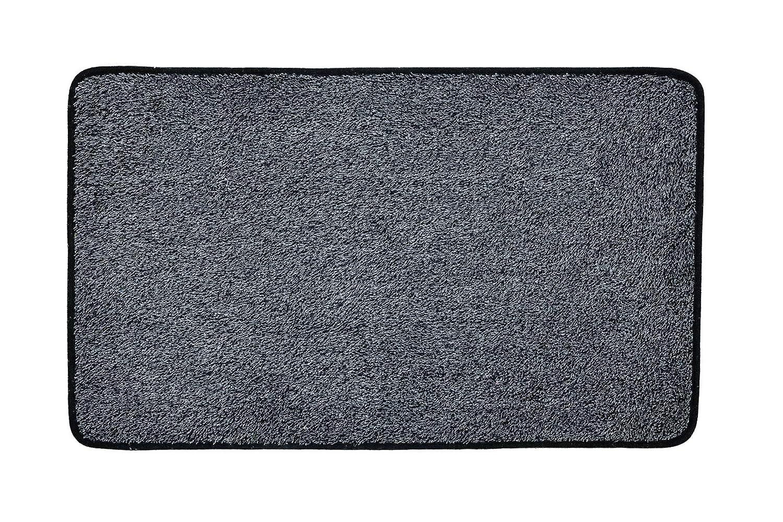 antid/érapant et lavable en machine tapis de sol /«Propret/é magique/» 45 x 75 cm Vinsani gris fonc/é paillasson Tissu