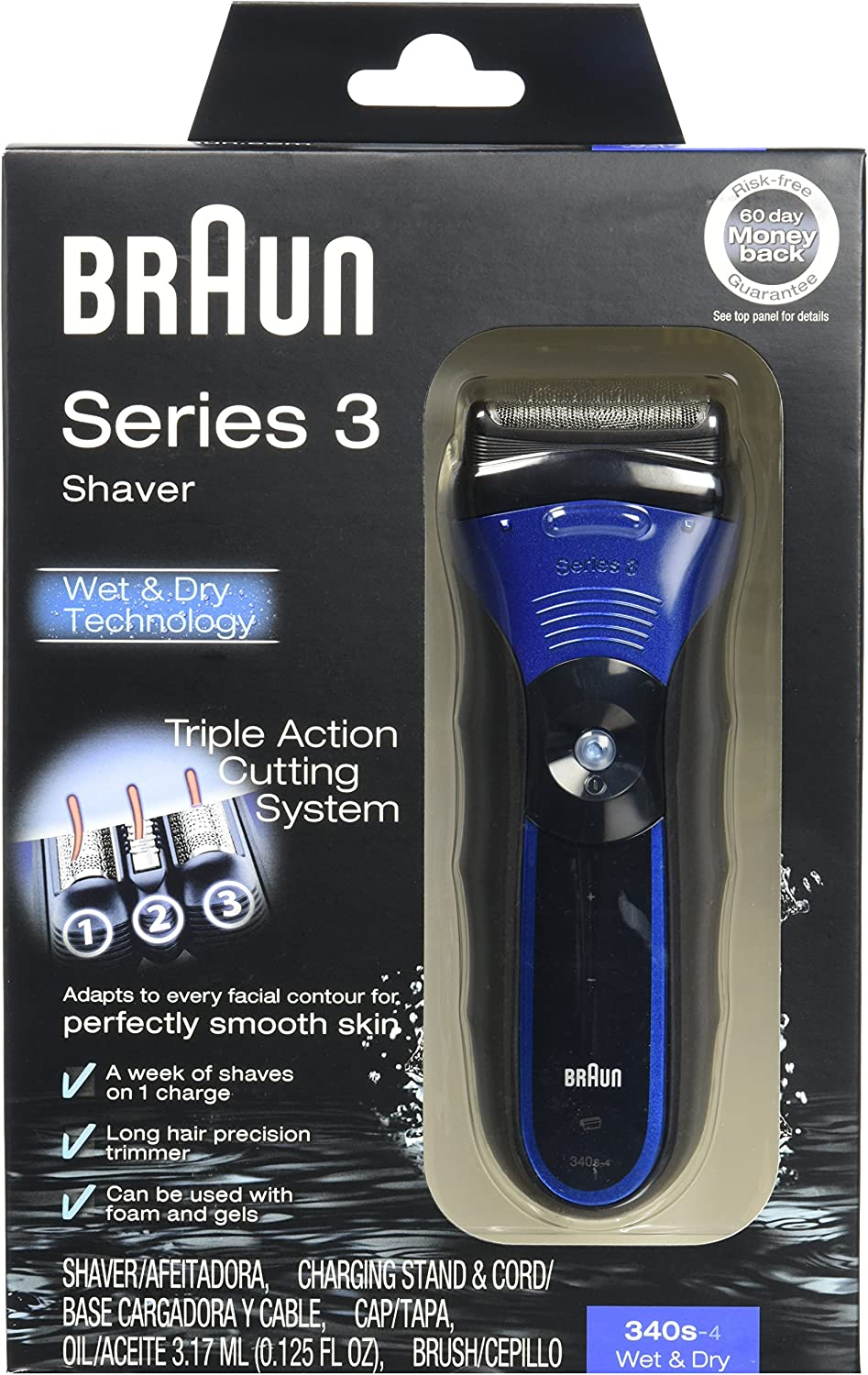 Braun 3series 340S-4 Wet & Dry Shaver: Amazon.es: Belleza