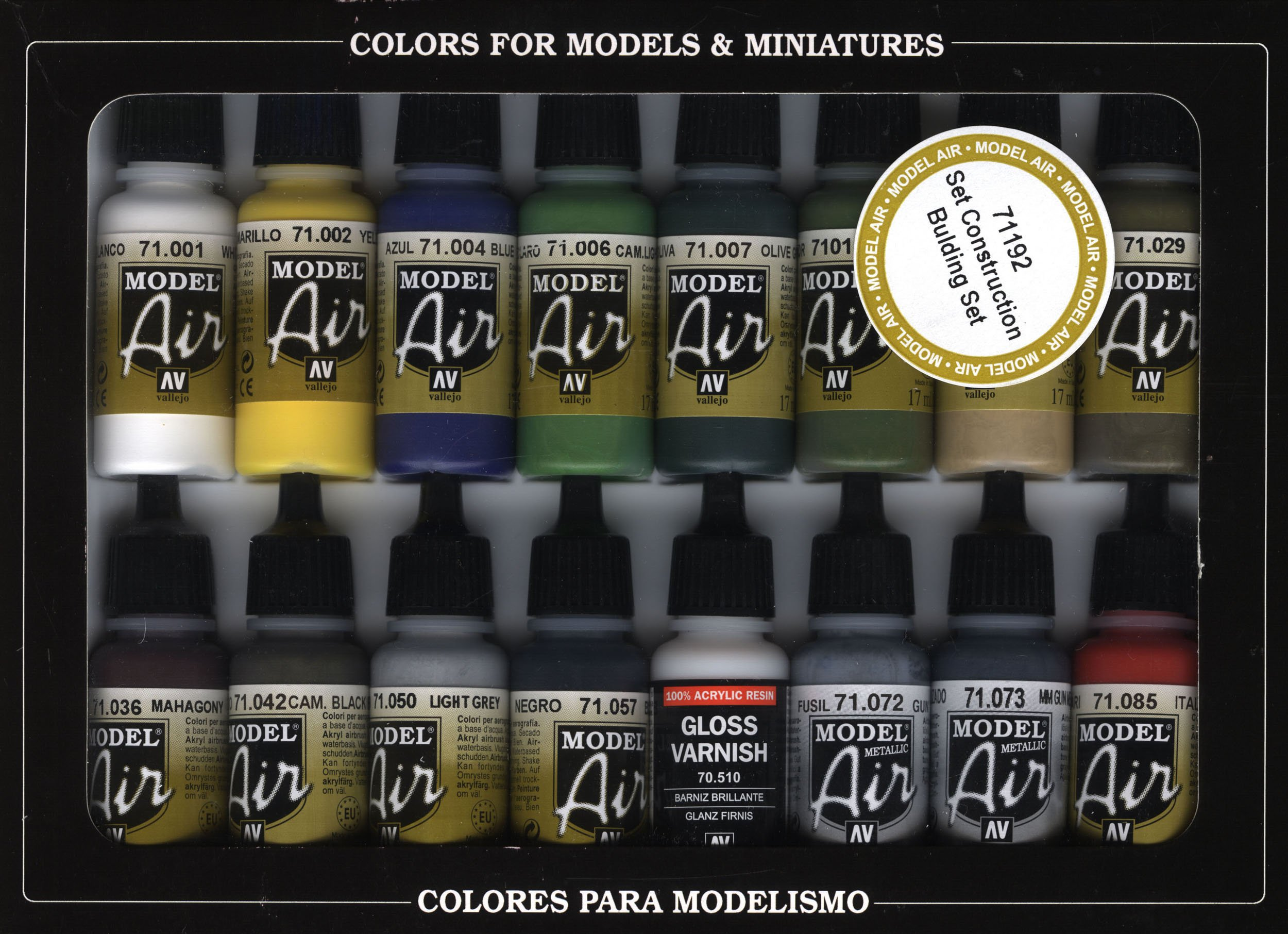 Vallejo Val71192 Model Air Set - Building Set Airbrush Ready Paint