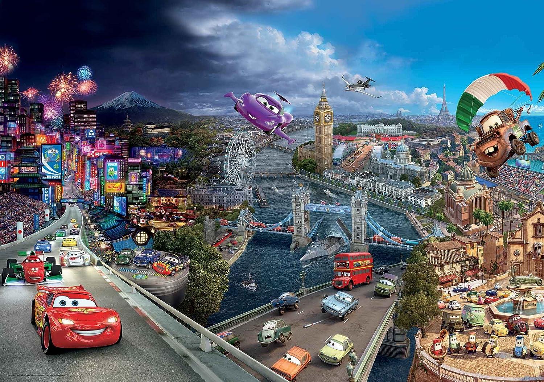 Tapetokids Fototapete - Disney Cars Lightning McQueen Bernoulli - Vlies 312 x 219 cm (Breite x Höhe) - Wandbild 95 Hooks Mater Rennen