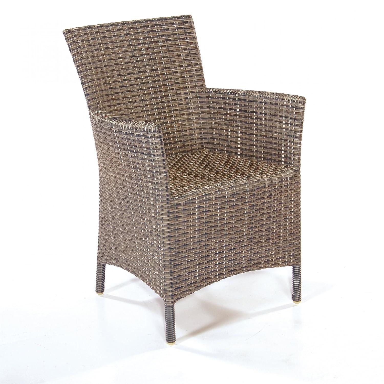 Sonnenpartner Gartenstuhl Sessel Modell Barbados cappuccino 80071042