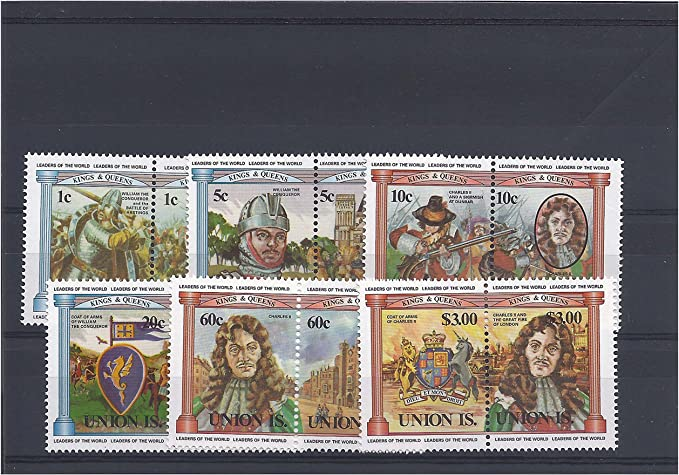 Stampbank Mint Reyes y Reinas sellos para coleccionistas - 12 sellos con Guillermo el Conquistador Batalla de Hastings y Carlos II - Nunca bisagras: Amazon.es: Juguetes y juegos