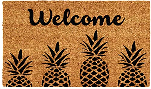 Calloway Mills AZ104992436 Pineapple Express Doormat, 24 x 36 , Natural Black