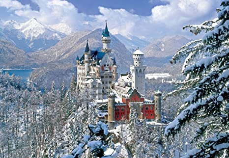 Buffalo Games Winter At Neuschwanstein Castle 2000Pc Jigsaw Puzzle Jigsaw Puzzles at amazon