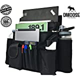 """Car Front Passenger Seat Organizer with Laptop & Tablet Storage by DMoose (17""""X14"""") – Adjustable Straps, Strong Buckles, Neoprene Thermal Pockets – Keep Car Necessities Organized and Within Easy Reach"""