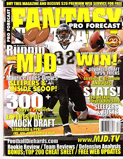 Amazon Com Fantasy Football Pro Forecast 300 Player Profiles