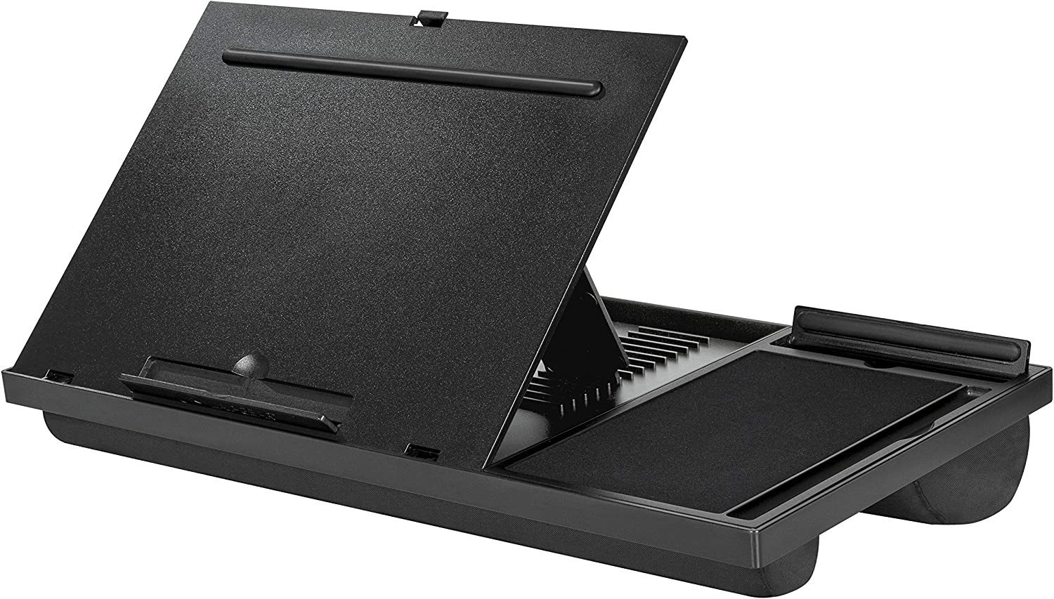 LapGear Ergo Pro Laptop Stand - Lap Desk with 20 Adjustable Angles, Mouse Pad, and Phone Holder - Black - Fits Up to 15.6 Inch Laptops and Most Tablets - Style No. 49408 : Office Products