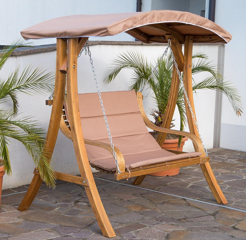Design Hollywoodschaukel Gartenschaukel Hollywoodliege Doppelliege aus Holz Lärche mit Dach Modell BELIZE von AS-S