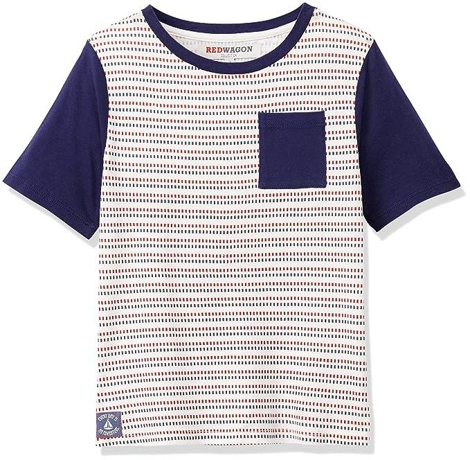 RED WAGON Camiseta Combinada de Rayas Manga Corta para Niños  Amazon.es   Ropa y accesorios ebda192f9e63a