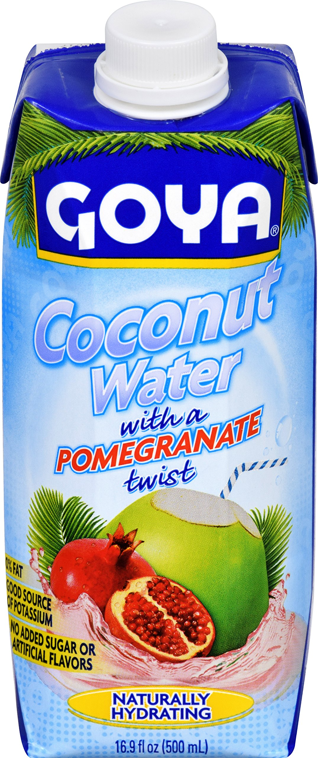 Goya Foods Coconut Water Pomegranate, 16.9 Ounce (Pack of 24)
