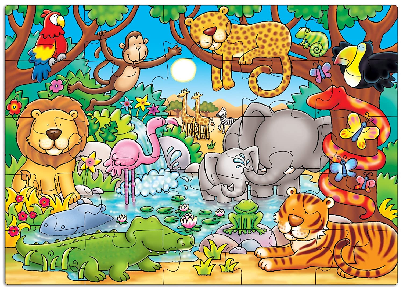 Orchad Toys 216 - Puzzle Who\'s in the jungle? (25 piezas, idioma ...