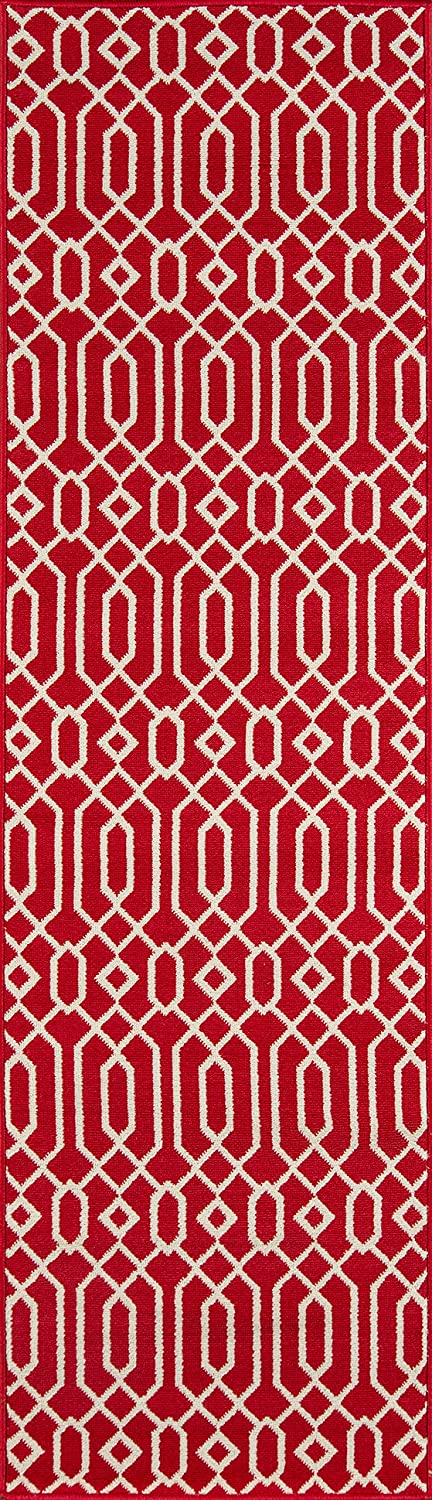 UV protected /& Fade Resistant 23 x 76 Runner Easy to Clean Momeni Rugs BAJA0BAJ-3ORG2376 Orange 2/'3 x 7/'6 Runner Inc DROPSHIP Baja Collection Contemporary Indoor /& Outdoor Area Rug