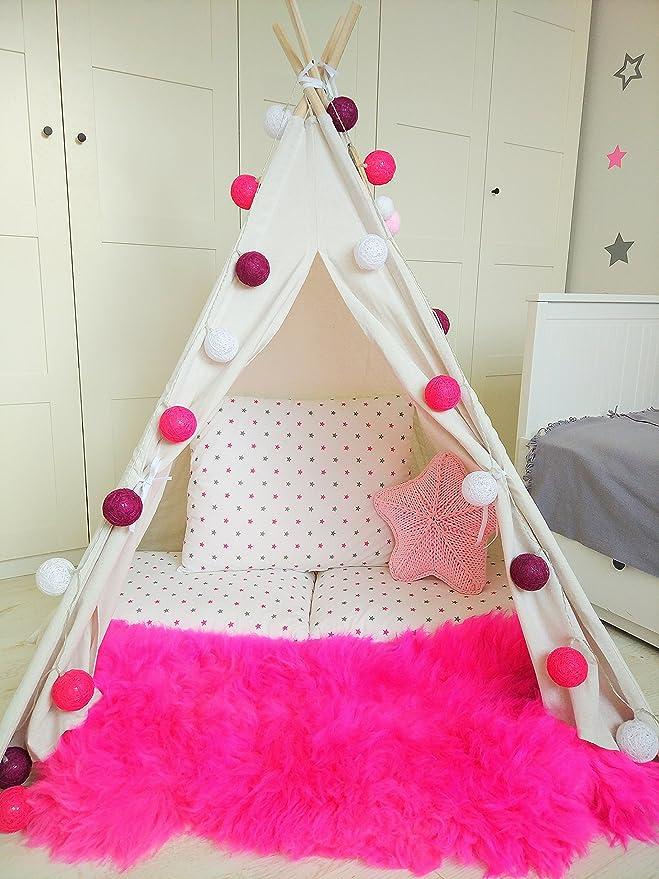 Amazinggirl Tipi Decorativo para niños Tienda de campaña Carpa con Ventana Temporada (Teepee Blanco (Sin Accesorios)): Amazon.es: Juguetes y juegos