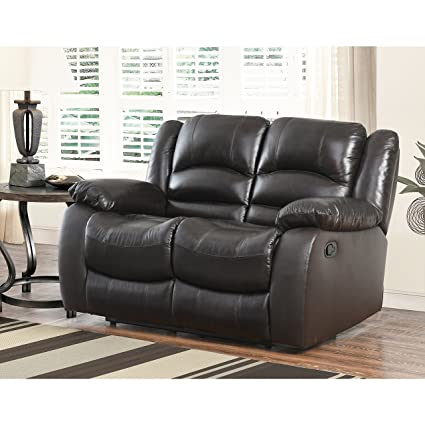 amazon com abbyson brownstone top grain leather reclining 2 piece rh amazon com