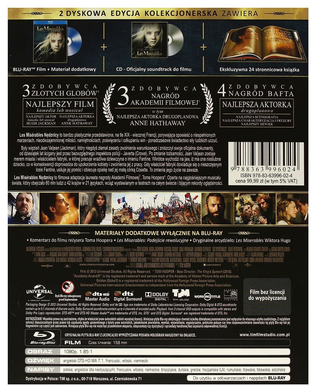 Les Misérables Cd Blu Ray Region B English Audio English