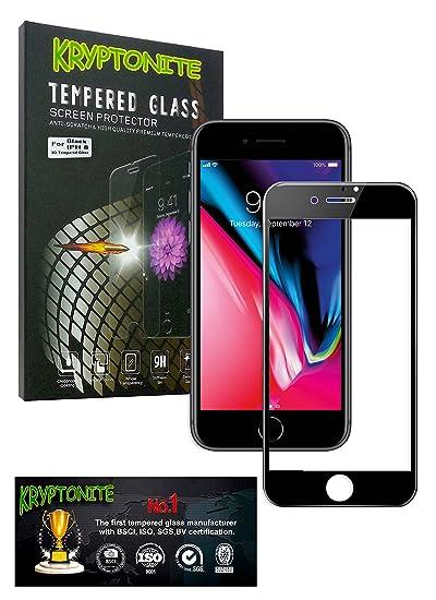 KRYPTONITE Protector de Pantalla de Vidrio para Apple iPhone 8 Cubre y Protege la Pantalla de