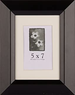 "product image for Frame USA Black Series 5x7 Beveled Wood Frames (Narrow 1.5"" Profile)"