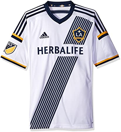 Amazon.com   adidas MLS LA Galaxy Home Jersey  White    Sports ... 87b3b6676