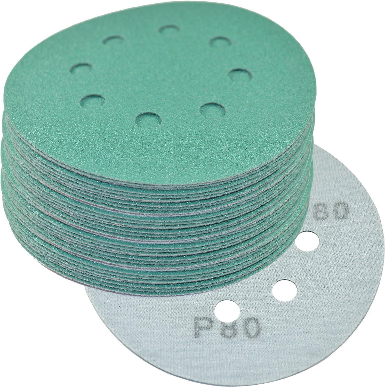 50 Pack HQRP 5 8-Hole 100-Grit Dustless Hook /& Loop Sanding Discs for Dewalt D26450 D26451 D26453 DW421 DW423 Random Orbit Sander Sandpaper 5-inch
