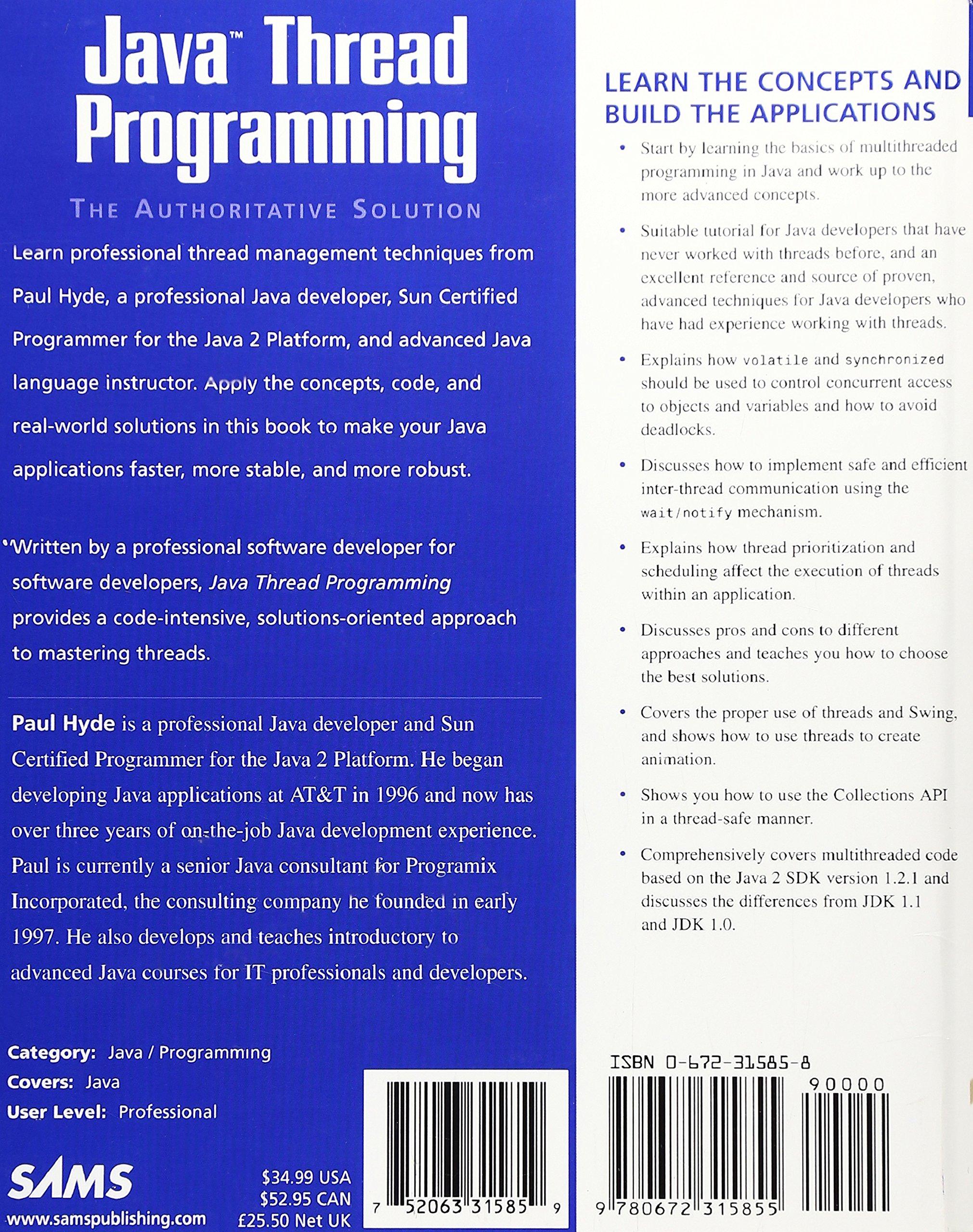 Java Thread Programming Paul Hyde Pdf
