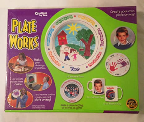 amazon com creations by you plateworks design your own plate toys