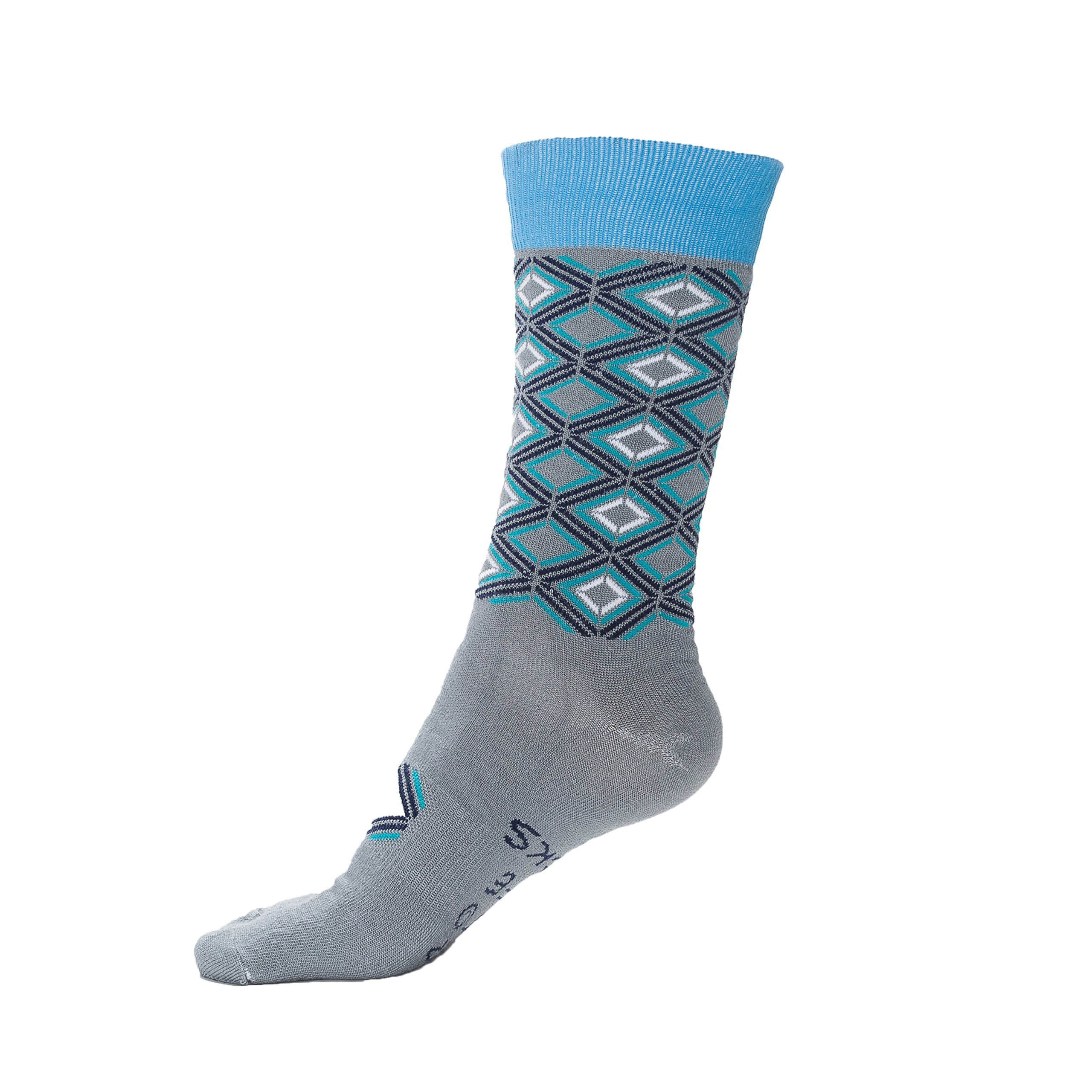 Men's Socks Courage by Step Into Life Funky Stylish Geometric Patterned Business Casual Fun Combed Cotton