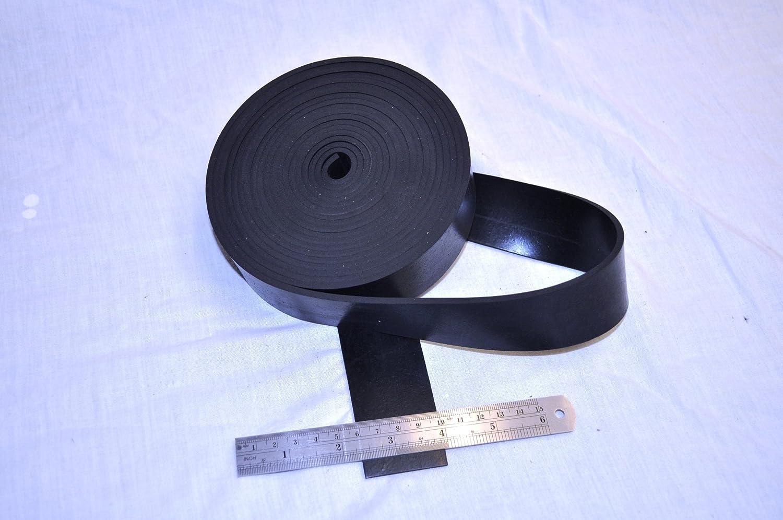 SOLID BLACK RUBBER Neopren Gummileiste 40 mm breit und 3 mm dick x 5 M lang