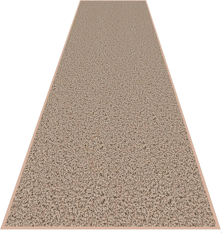 Koeckritz Rugs 2'X12' Economy Carpet Door Rug Runner - 25 Oz Frieze Taffy Apple Beige (1)