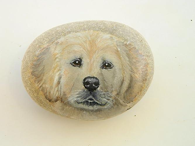 Amazon Com Golden Retriever Puppy Hand Painted On A Sea Worn Beach
