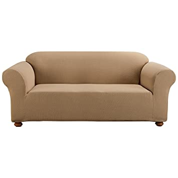 Amazon Sure Fit Simple Stretch Subway 1 Piece Sofa