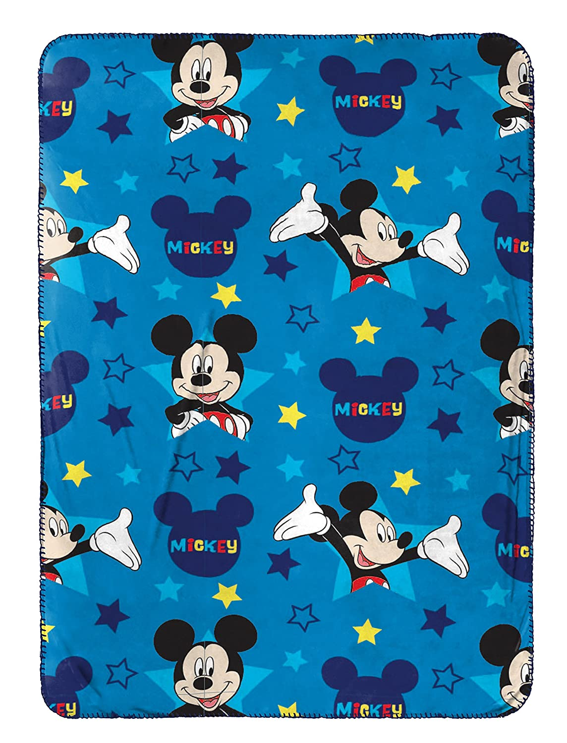 Disney Mickey Mouse Plush Travel Blanket, Blue Throw Jay Franco and Sons Inc. JF16152ECD