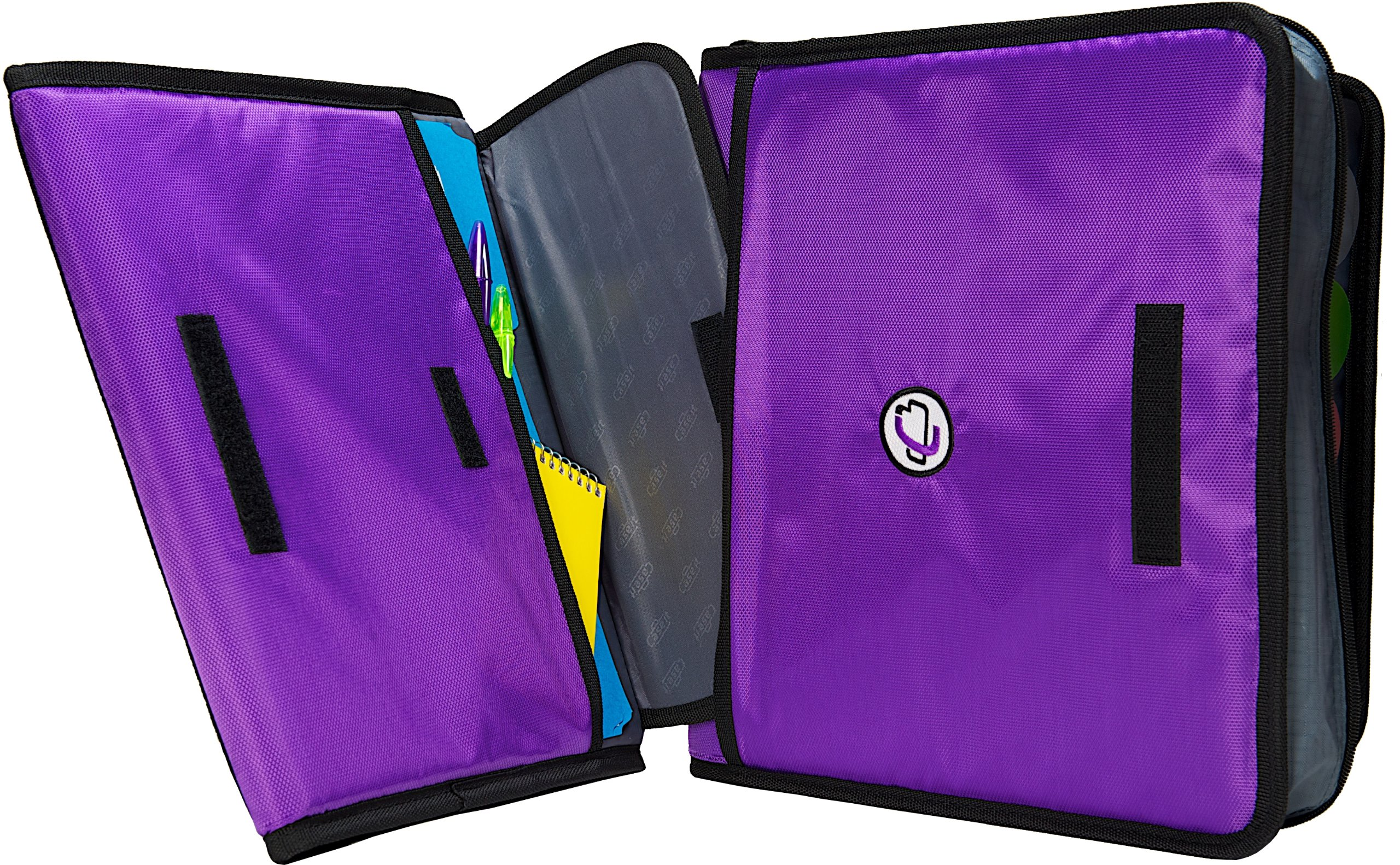 Case-it Sidekick 2-Inch O-Ring Zipper Binder with Removable Tab File, Purple, D-901-PUR by Case-It (Image #6)