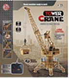 Lift Tower Wire Control RC Crane 4CH Engineer Construction Vehicle Toy Playset