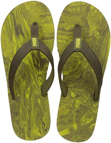 9fa707bcfb6 Puma Unisex s Epic Flip V2 Marble Avocado-Nrgy Yellow Flops-6 UK India