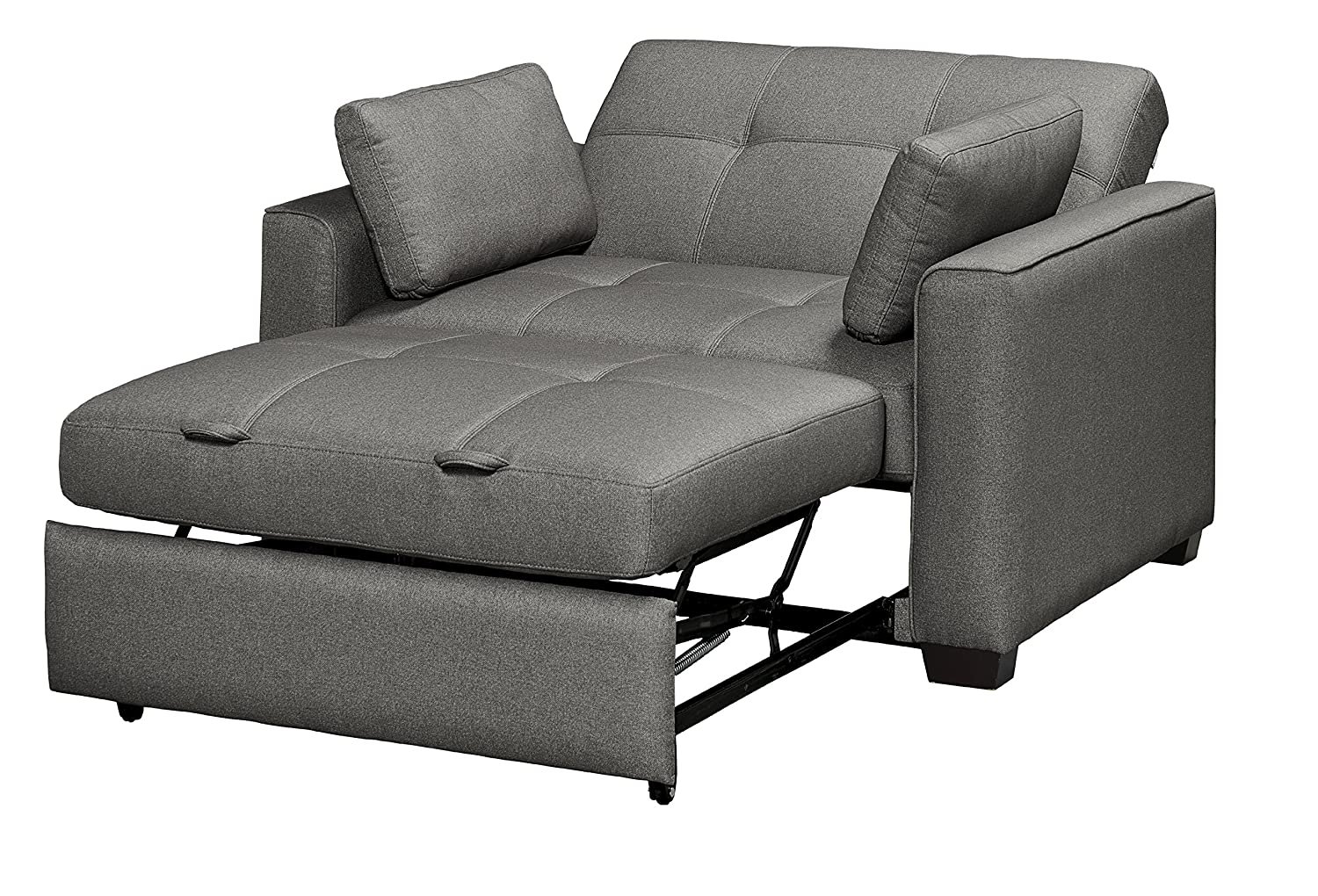 Mechali Products Furniture Serta Sofa Sleeper Convertible into Lounger/Love seat/Bed - Twin, Full & Queen Sizes - Moon Grey Color (Twin)