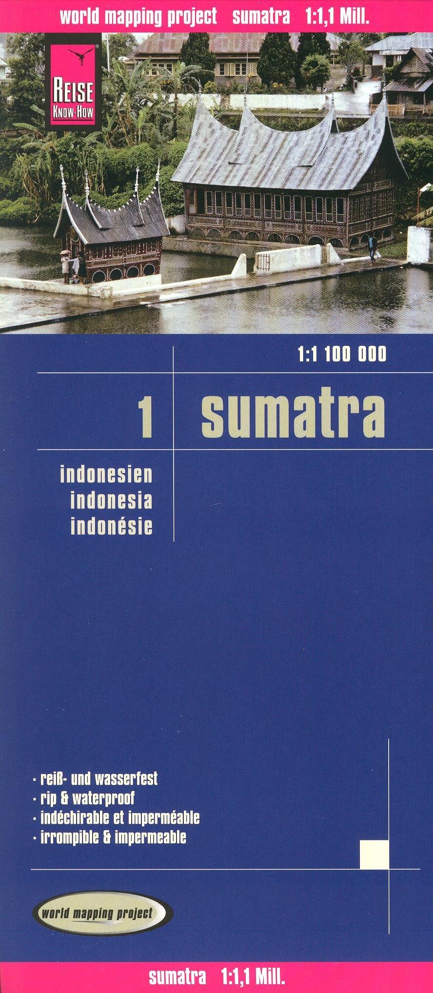 Sumatra 1:1,100,000 Travel Map, waterproof, GPS-compatible REISE
