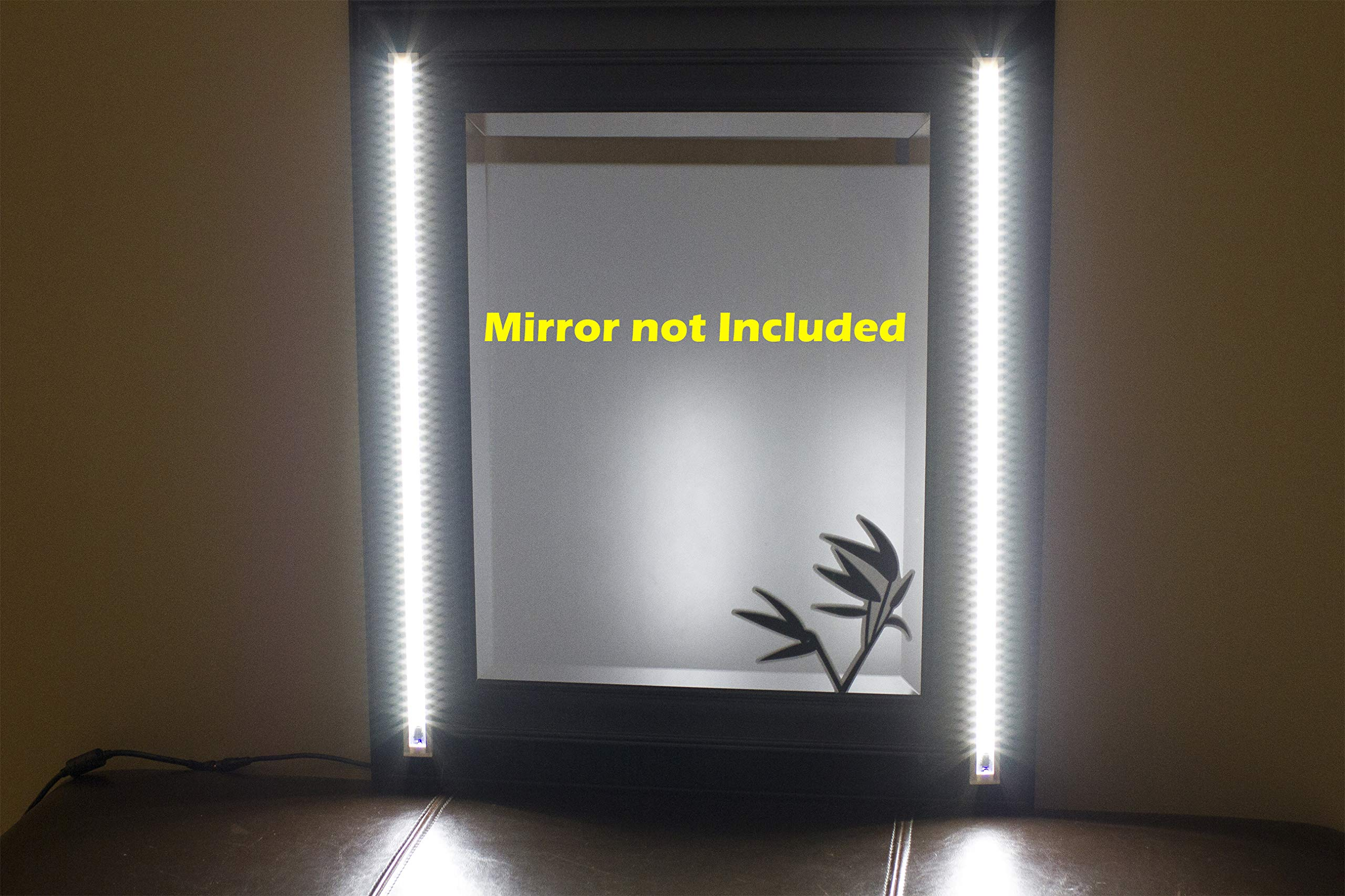 MAKE UP MIRROR LED light white color Dual 2ft VANITY MIRROR LIGHT SET WITH UL Power adapter