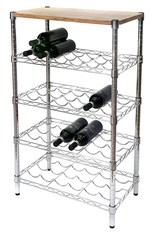 Archimede Cantinetta vino portabottiglie, XBW3560 in acciaio cromato, larghezza 60 cm arredamento
