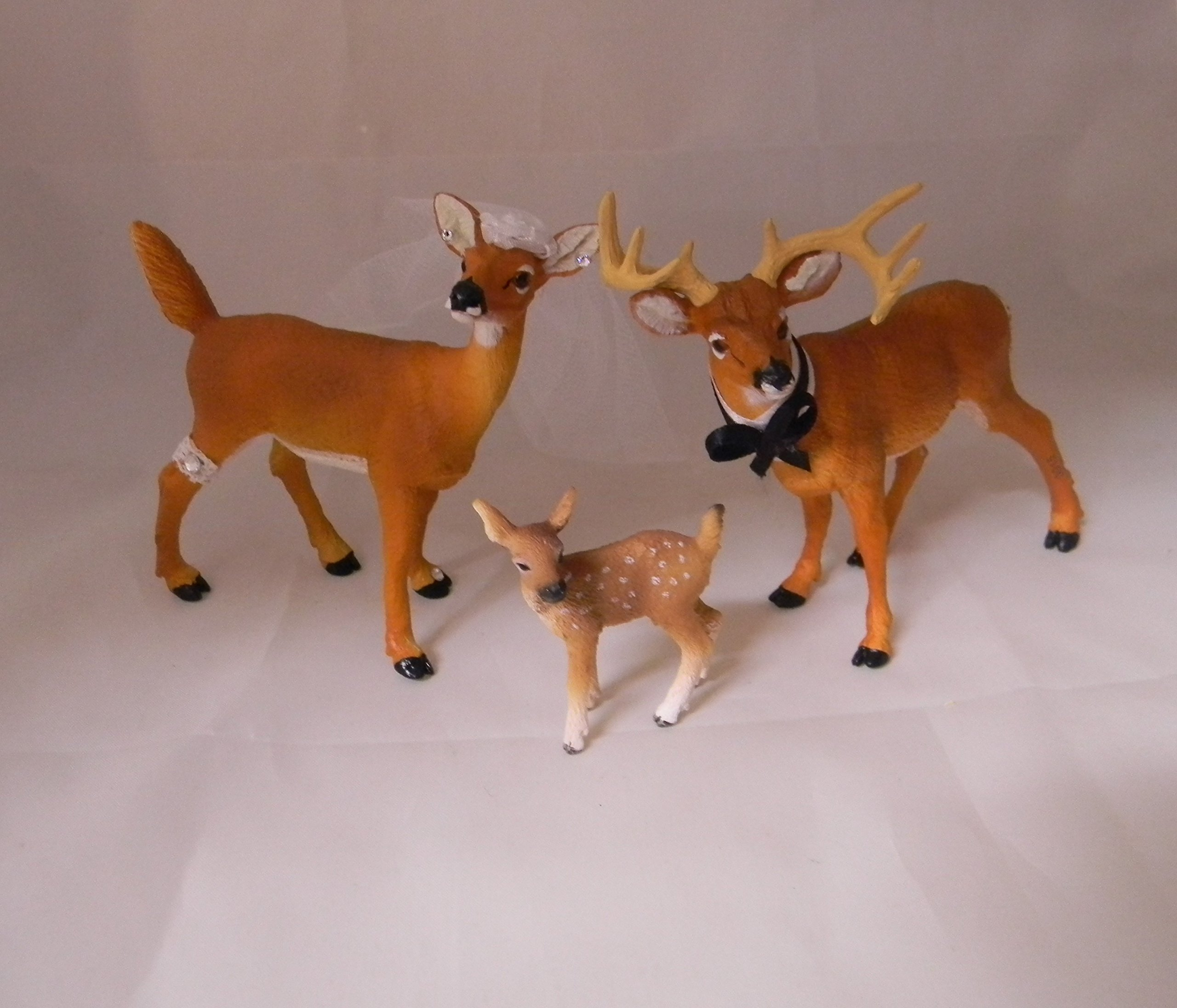 Wedding Reception Buck and Doe Deer Family Hunter Redneck Cake Topper by Custom Design Wedding Supplies by Suzanne
